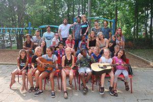 Les élèves et les professeurs du camp d'été de Sherbrooke
